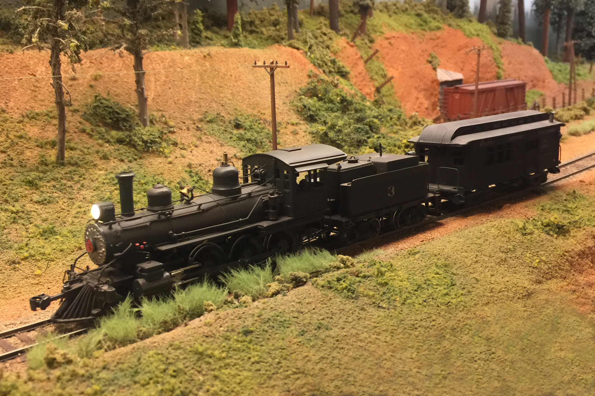 HO scale steam locomotive with DCC and Sound