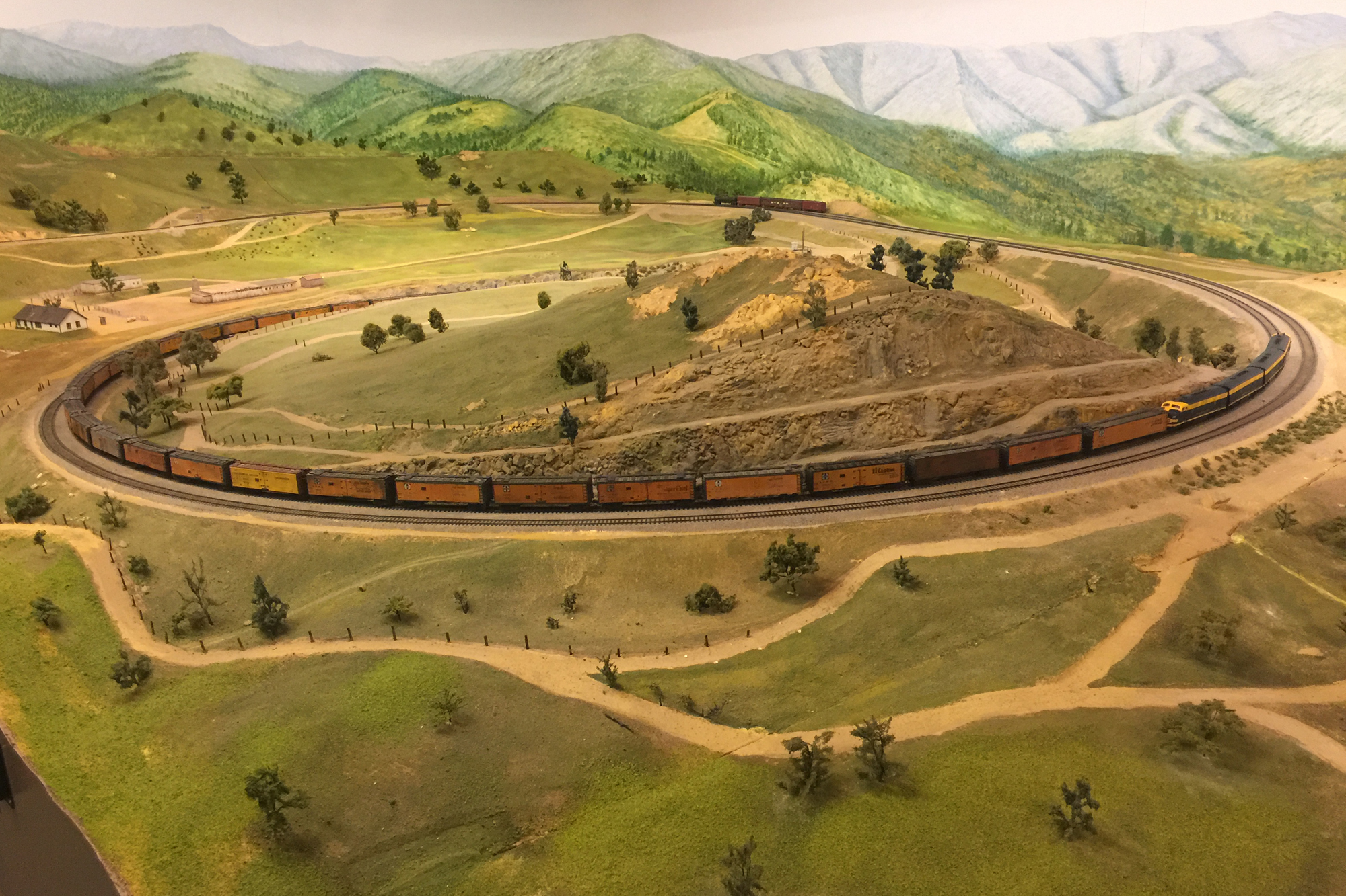 La Mesa Model Railroad Club HO scale with DCC and Sound layout.