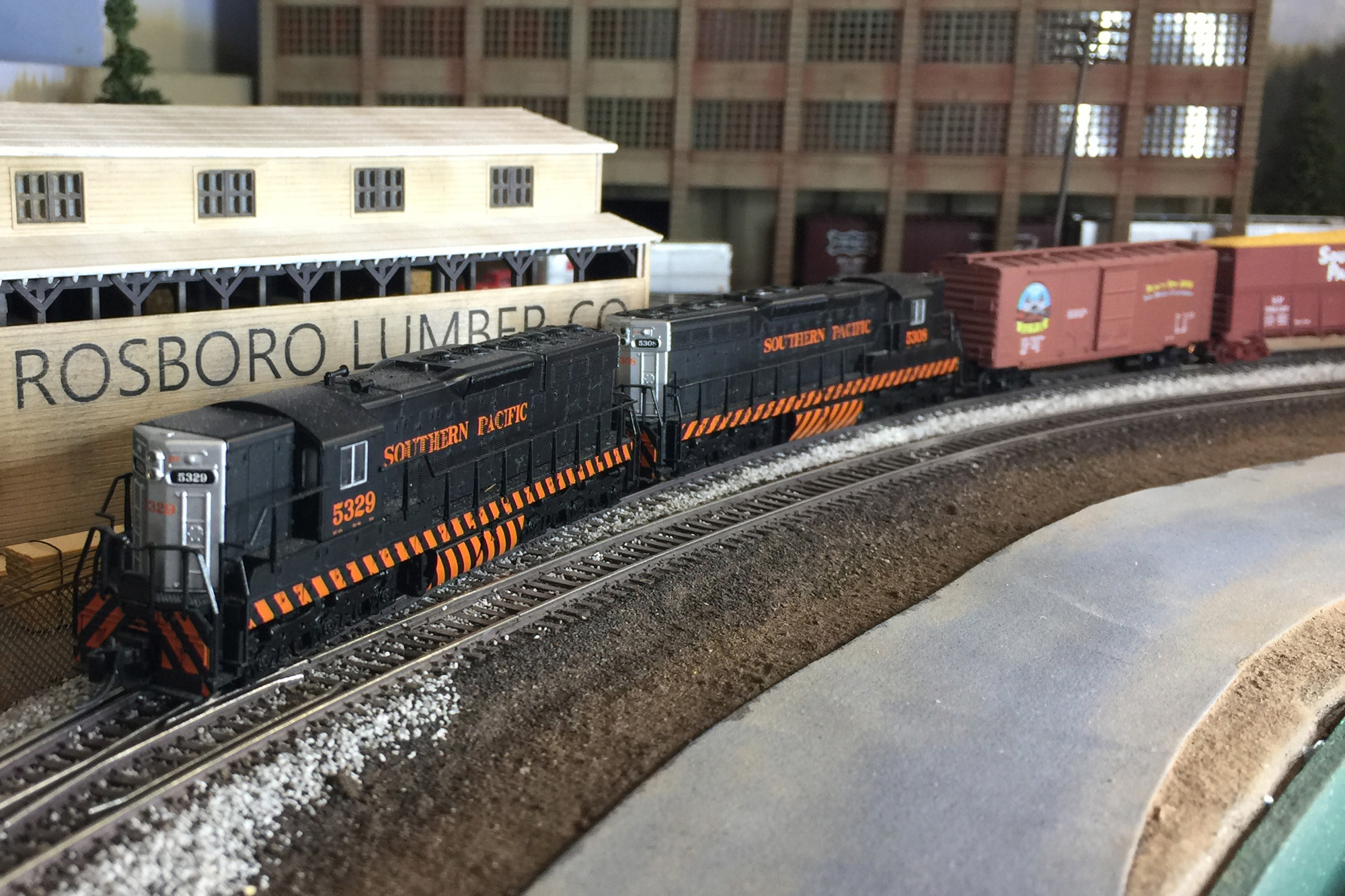 N Scale freight train and layout by Ryan Ryan Di Fede, San Diego Division member.