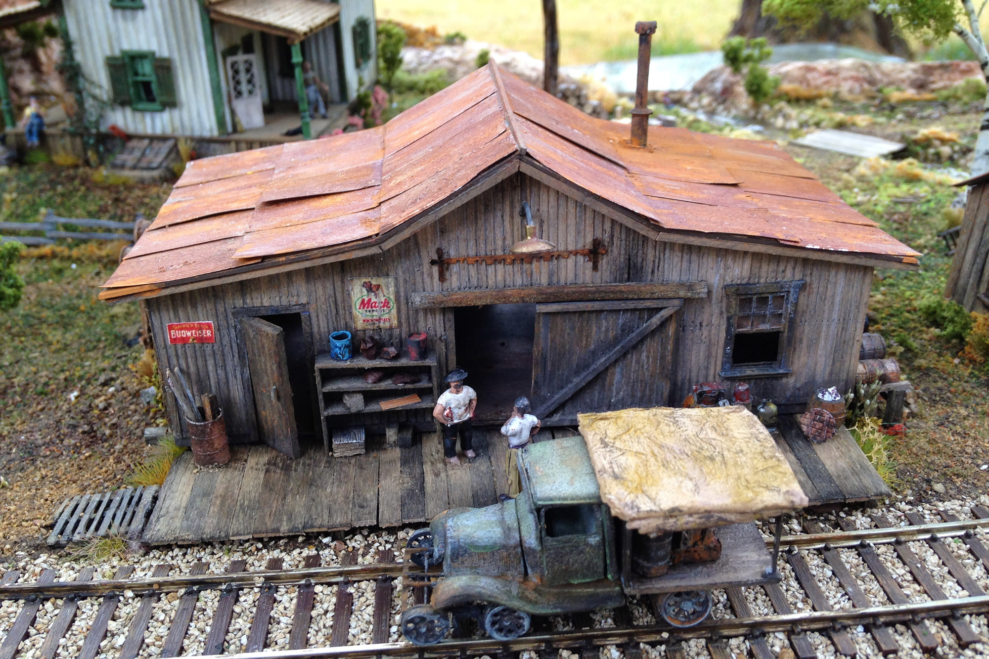 Modeling diorama by Trudy Seeley, San Diego Division member.
